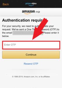 Amazonプライム・ビデオのアプリ パスワード忘れた場合