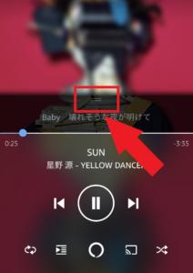 「Amazon Music」歌詞表示