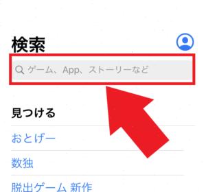 iPhone App Store 検索窓