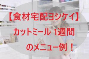 「ヨシケイ」カットミール 1週間のメニュー例