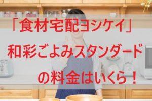 「ヨシケイ」和彩ごよみスタンダードの料金