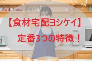 「ヨシケイ」定番3つの特徴