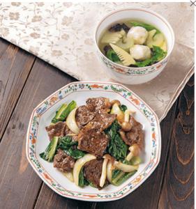牛肉と青菜のコクうま炒め