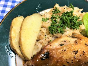 「ヨシケイ」ラビュバリエーション子コースのガーリックライスを食べた感想
