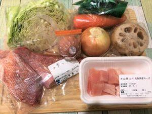 ヨシケイ 定番 赤魚の煮つけ全材料