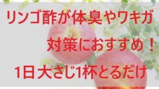 リンゴ酢が体臭やワキガ対策におすすめ!【1日大さじ1杯とるだけ!】