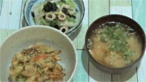 プチママお試し1日目:ラクラク海鮮かき揚げ丼