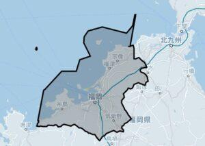 Uber Taxi(ウーバータクシー):福岡の対応エリア