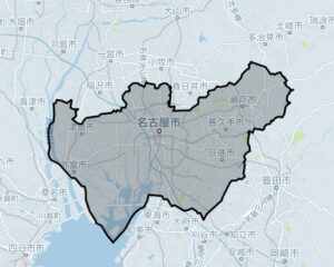 「Uber Taxi」愛知・名古屋の対応エリア